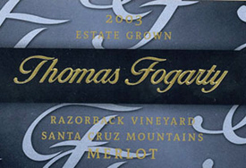 Thomas Fogarty Winery 2003 Merlot, Razorback Vineyard (Santa Cruz Mountains)