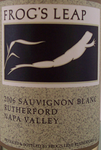 Frog's Leap 2006 Sauvignon Blanc  (Rutherford)