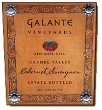 Wine:Galante Vineyards 2003 Cabernet Sauvignon, Red Rose Hill (Carmel Valley)