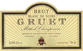 Gruet Winery NV Methode Champenoise Blanc de Noirs Brut  (New Mexico)