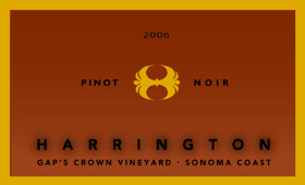 Harrington Winery 2006 Pinot Noir, Gap's Crown (Sonoma Coast)