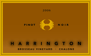 Harrington Winery 2006 Pinot Noir, Brosseau Vineyard (Chalone)