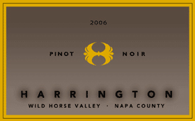 Harrington Winery 2006 Pinot Noir, Wild Horse Valley (Napa County)