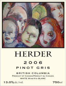 Wine:Herder Winery & Vineyards 2006 Pinot Gris  (British Columbia)
