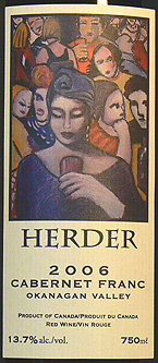 Herder Winery & Vineyards 2006 Cabernet Franc  (Okanagan Valley)