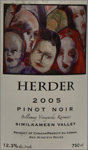 Wine:Herder Winery & Vineyards 2005 Pinot Noir, Bellamay Vineyard (Similkameen Valley)