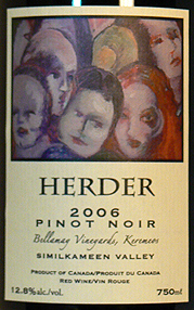 Herder Winery & Vineyards 2006 Pinot Noir, Bellamay Vineyard (Similkameen Valley)