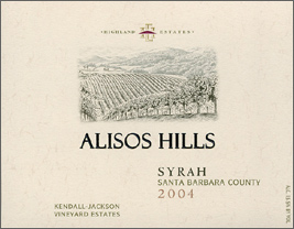 Wine:Highland Estates - Kendall Jackson Vineyard Estates 2004 Syrah, Alisos Hills (Santa Barbara County)
