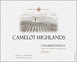 Wine:Highland Estates - Kendall Jackson Vineyard Estates 2005 Chardonnay, Camelot Highlands (Santa Maria Valley)