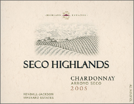 Wine:Highland Estates - Kendall Jackson Vineyard Estates 2005 Chardonnay, Seco Highlands (Arroyo Seco)