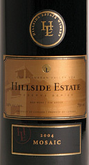 Hillside Estate Winery 2004 Mosaic  (Okanagan Valley)