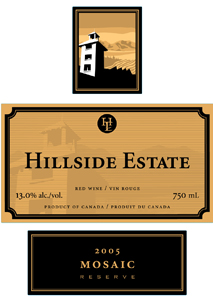 Hillside Estate Winery 2005 Mosaic  (Okanagan Valley)
