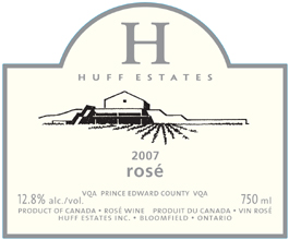wine Huff Estates 2007 Rosé  (Prince Edward County)
