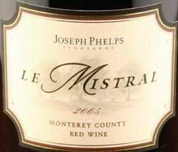 Joseph Phelps Vineyards 2005 Le Mistral  (Monterey County)