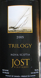 Wine:Jost Vineyards 2005 Trilogy  (Nova Scotia)