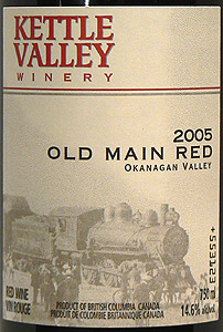 Kettle Valley Winery 2005 Old Main Red, Old Main, King Drive (Okanagan Valley)