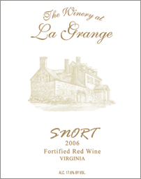 Wine:The Winery at La Grange 2005 Snort  (Virginia)