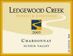 Wine:Ledgewood Creek Winery & Vineyards 2005 Chardonnay  (Suisun Valley)