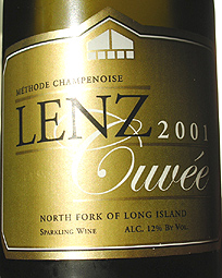 Lenz Winery 2001 Cuvee, Estate (North Fork of Long Island)