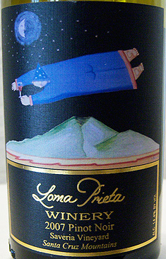 Loma Prieta Winery 2007 Pinot Noir, Saveria Vineyard (Santa Cruz Mountains)