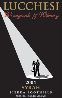 Lucchesi Vineyards & Winery 2004 Syrah  (Sierra Foothills)