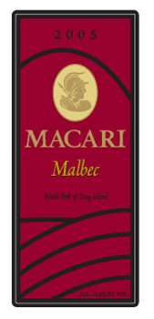 Wine:Macari Vineyards & Winery 2005 Malbec  (North Fork of Long Island)