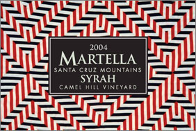 Wine:Michael Martella Wines 2004 Syrah, Camel Hill Vineyard (Santa Cruz Mountains)