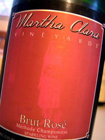 Wine:Martha Clara Vineyards 2001 Brut Rosé  (North Fork of Long Island)
