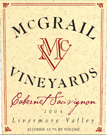 McGrail Vineyards 2004 Cabernet Sauvignon  (Livermore Valley)