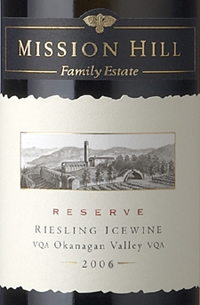 Mission Hill Winery 2006 Reserve Riesling Icewine  (Okanagan Valley)