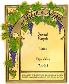 Wine:Nickel & Nickel 2004  Merlot, Suscol Ranch  (Napa Valley)