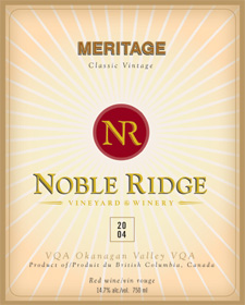 Wine:Noble Ridge Vineyard and Winery 2004 Meritage  (Okanagan Valley)