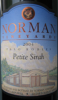 Norman Vineyards 2004 Petite Sirah  (Paso Robles)