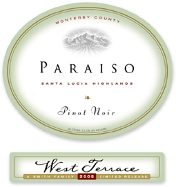 Paraiso Vineyards 2005 Pinot Noir, West Terrace (Santa Lucia Highlands)