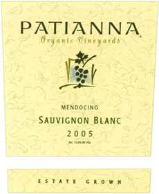 Wine:Patianna Organic Vineyards 2005 Sauvignon Blanc, Estate (Mendocino)