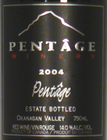 Pentage Wines 2004 Pentâge, Vista View Vineyard (Okanagan Valley)
