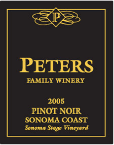 Wine:Peters Family Winery 2005 Pinot Noir, Sonoma Stage Vineyard (Sonoma Coast)