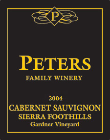 Peters Family Winery 2004 Cabernet Sauvignon, Gardner Vineyard (Sierra Foothills)