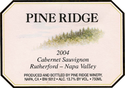 Pine Ridge Winery 2004 Cabernet Sauvignon  (Rutherford)