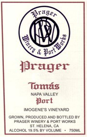 Wine:Prager Winery & Port Works 2004 Tomas Port  (Napa Valley)