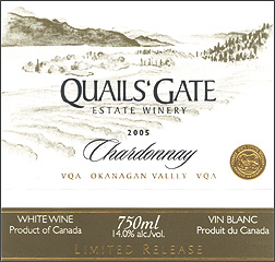 Quails' Gate Estate Winery 2005 Limited Release Chardonnay