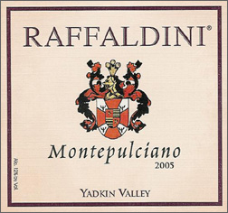 Wine:Raffaldini Vineyards and Winery 2005 Montepulciano  (Yadkin Valley)