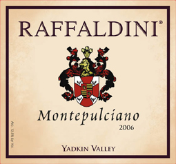 Wine: Raffaldini Vineyards and Winery 2006 Montepulciano, Estate (Yadkin Valley)