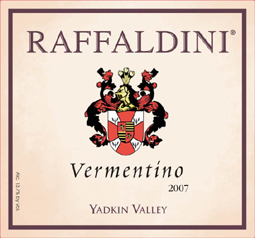 Wine: Raffaldini Vineyards and Winery 2007 Vermentino, Estate (Yadkin Valley)