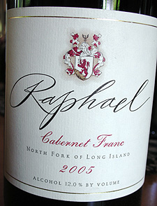 Wine:Raphael 2005 Cabernet Franc  (North Fork of Long Island)