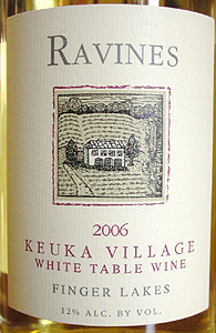 Ravines Wine Cellars 2006 Keuka Village White  (Finger Lakes)