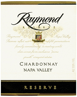 Raymond Vineyard & Cellar 2006 Chardonnay Reserve  (Napa Valley)