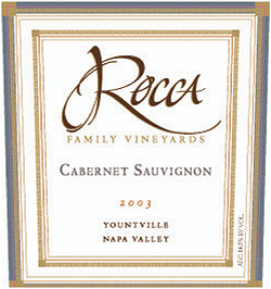 Wine:Rocca Family Vineyards 2003 Cabernet Sauvignon  (Yountville)