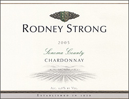Wine: Rodney Strong Vineyards 2005 Chardonnay  (Sonoma County)