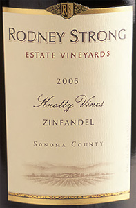 Rodney Strong Vineyards 2005 Knotty Vines Zinfandel, Estate (Sonoma County)